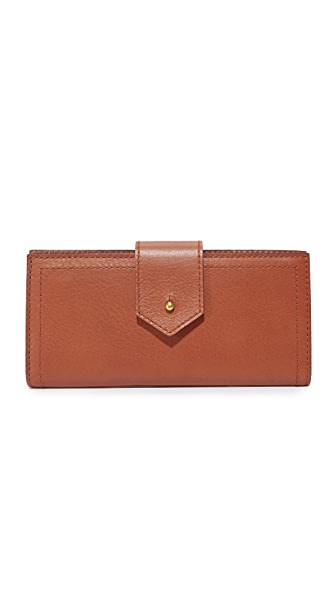 Madewell Post Wallet - English Saddle