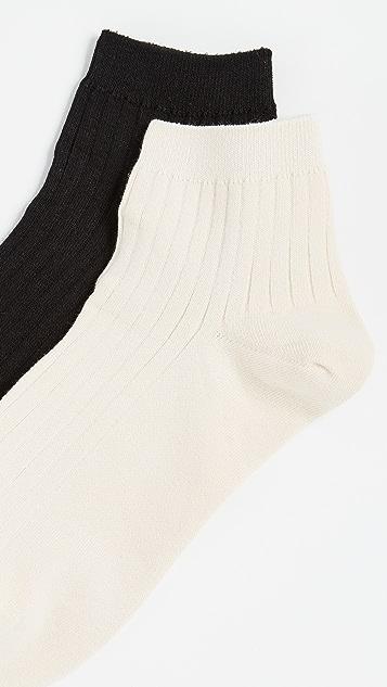 Madewell Heather Ribbed Mid Ankle Socks Set of 2