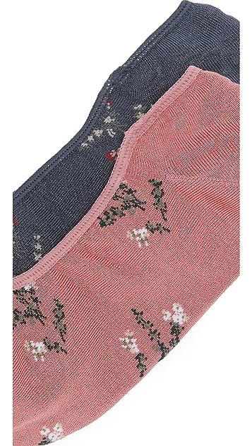 Madewell Two-Pack Wild Botanica Low-Profile Socks