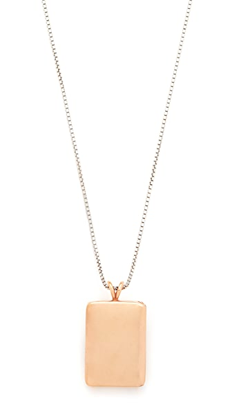 Madewell Demi-Fine Bronze Locket Necklace