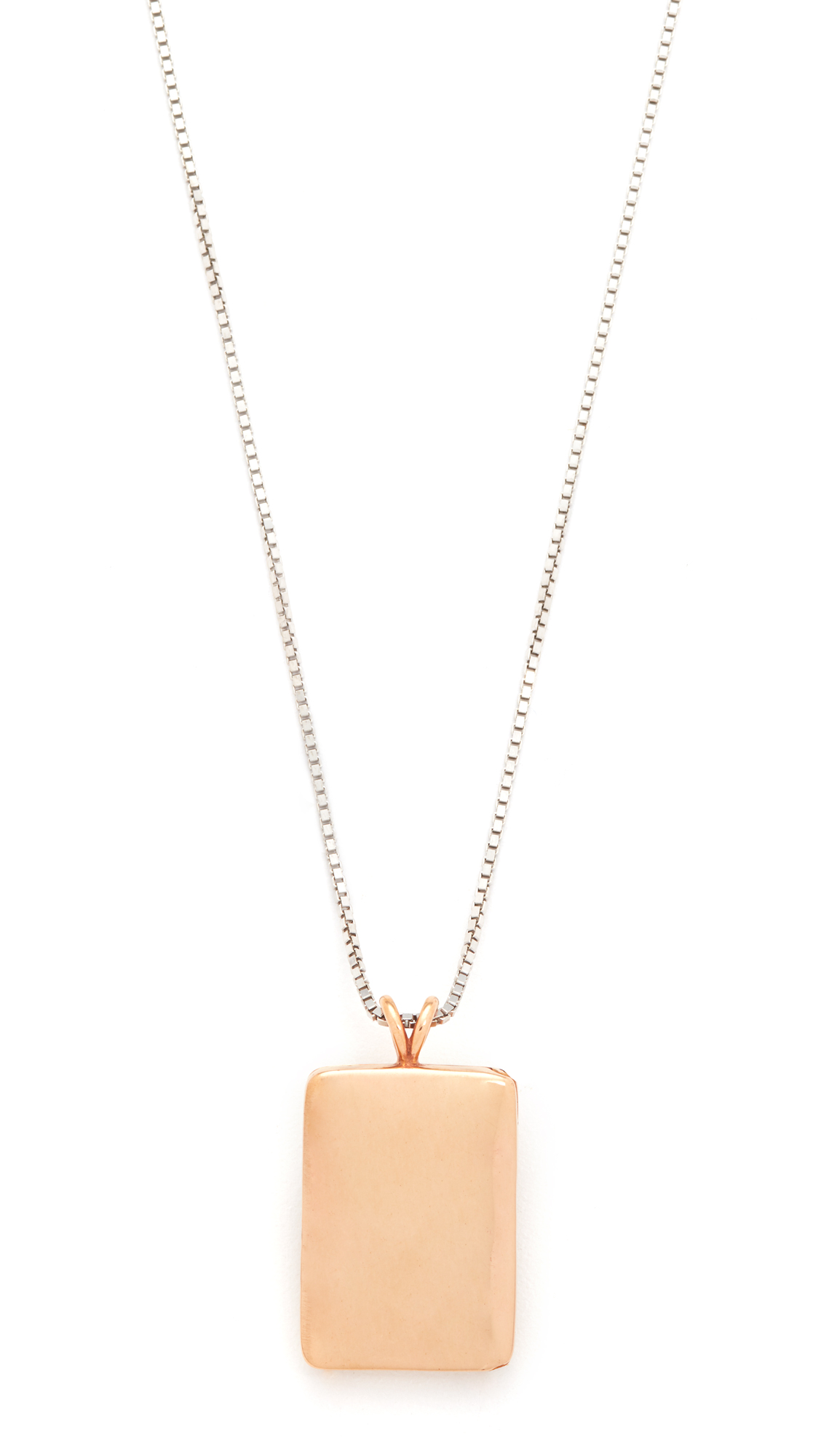 Madewell Demi-Fine Bronze Locket Necklace - Bronze