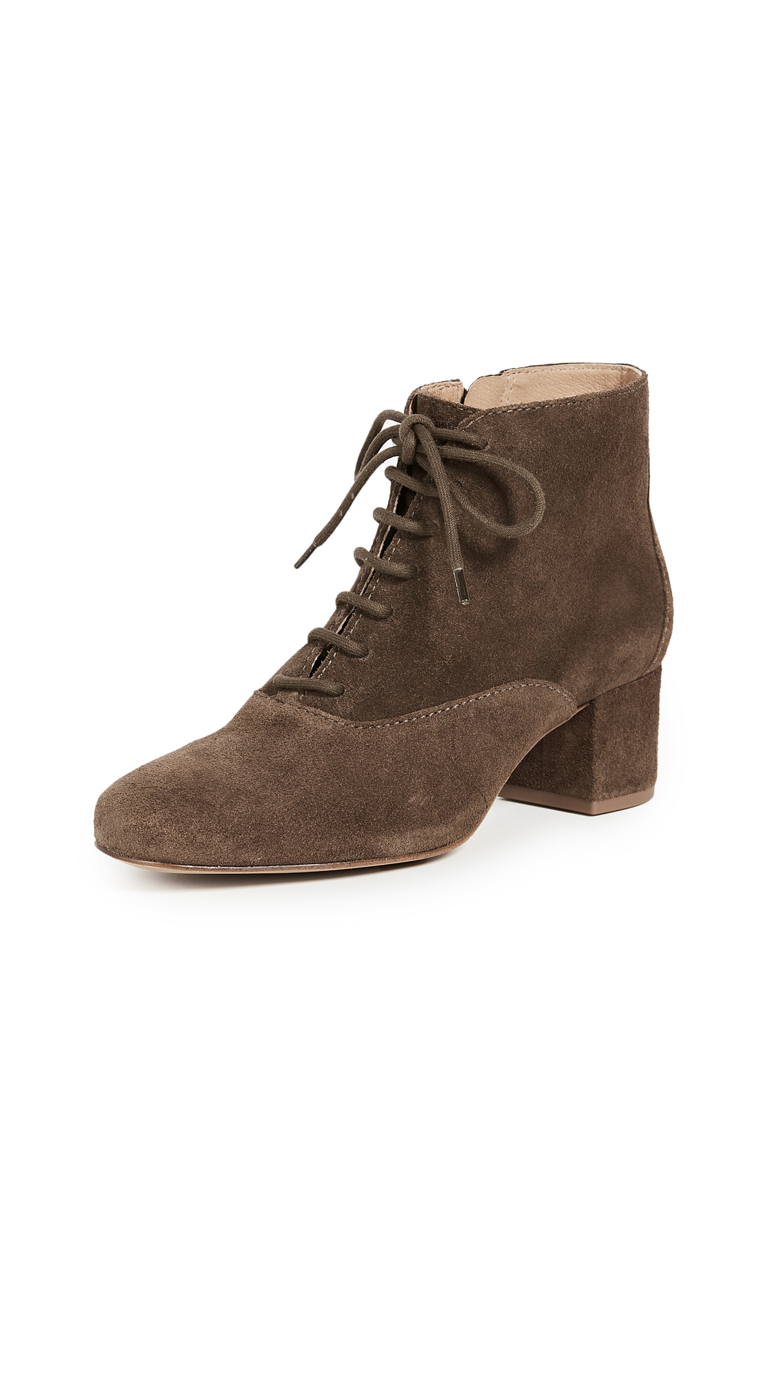 Madewell Macey Lace Up Boots - Weathered Maple