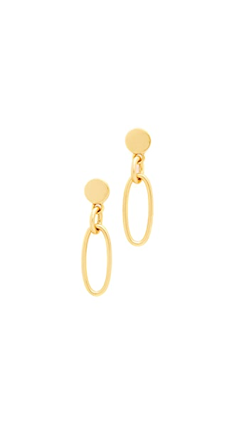 Madewell Novel Chain Drop Earrings - Light Gold Ox