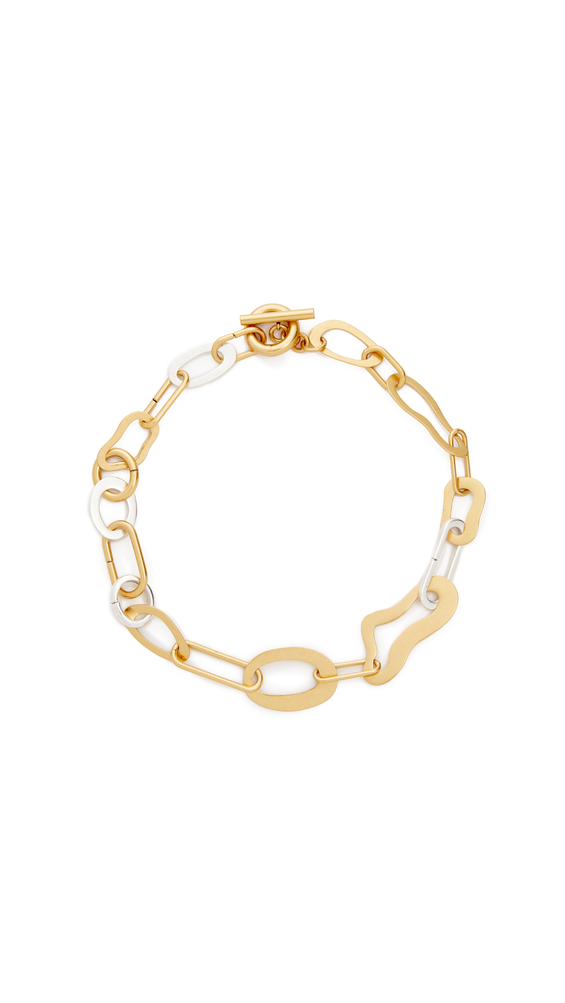 Madewell Abstract Link Necklace - Mixed Metals