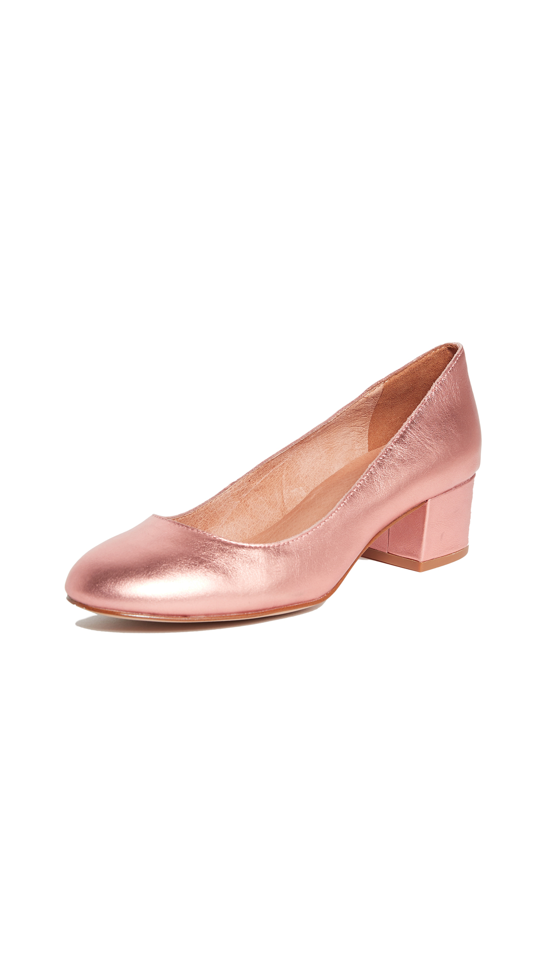 Madewell Ella Metallic Pumps - Metallic Blush