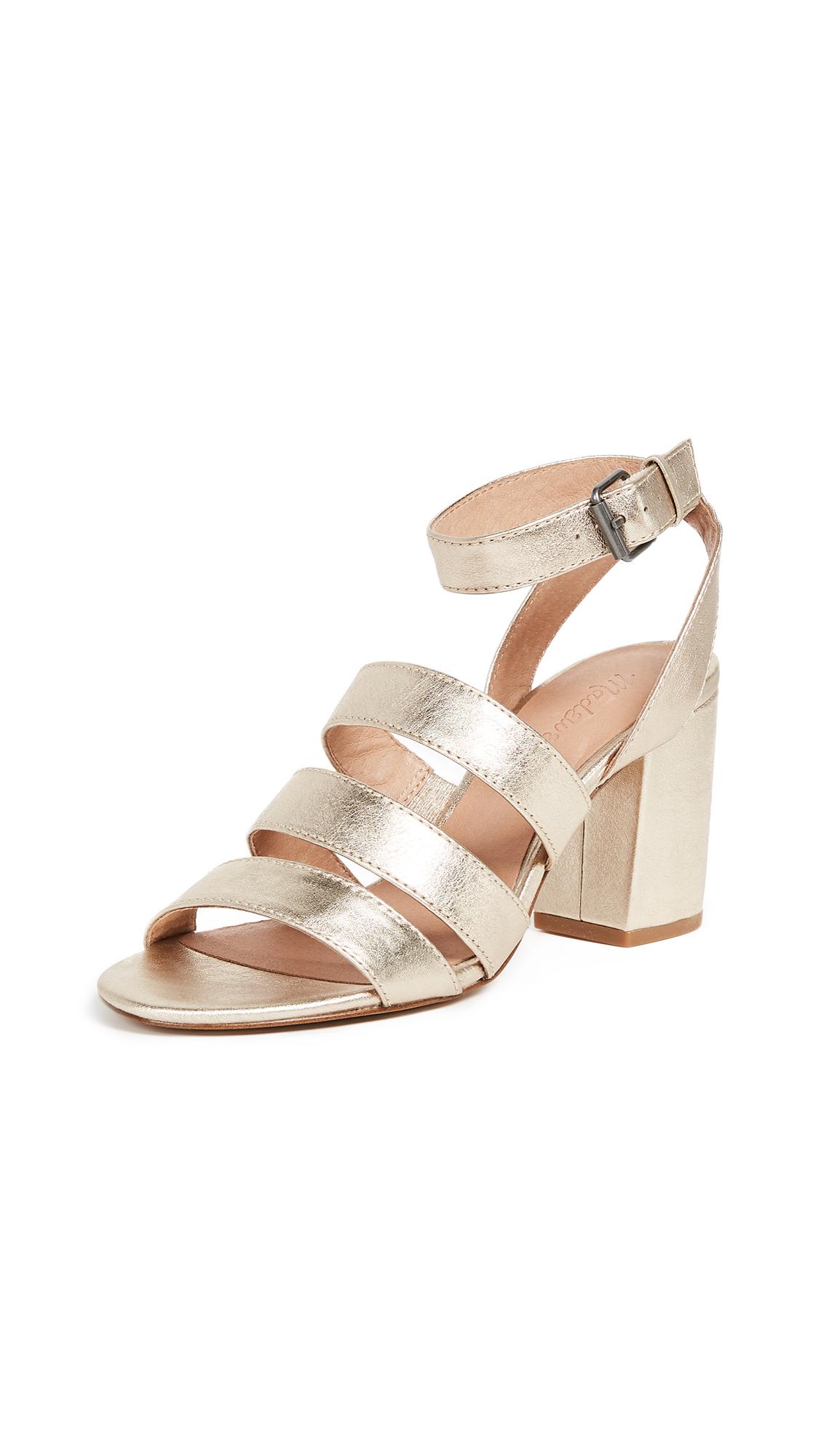 Madewell Bistra 3 Strap Sandal - White Gold