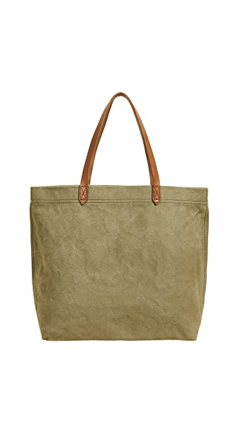 Madewell Heavy Canvas Transport Tote In British Surplus