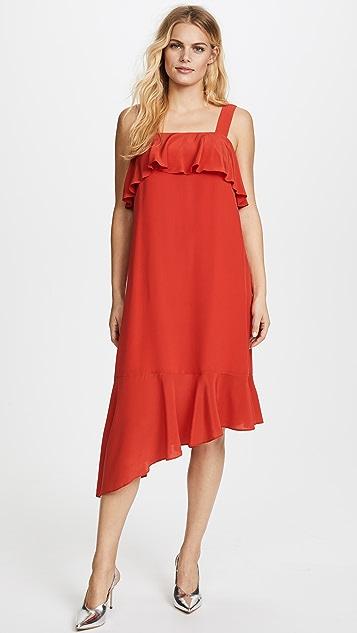 Madewell Doris Ruffle Midi Dress