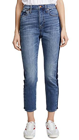 High Rise Slim Boy Jeans with Tux Stripe