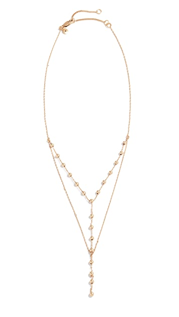 Madewell Double Layer Ball Lariat Necklace