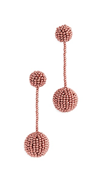 Madewell Beaded Party Earrings In Dark Cabernet
