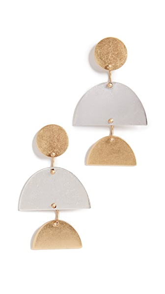 Madewell Sculpture Statement Earrings In Mixed Metals