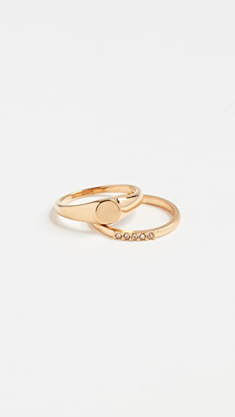 Madewell Pinky Ring Set In Mixed Metals