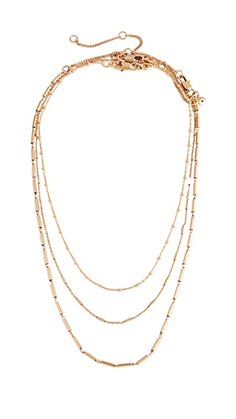 Madewell Delicate Chain Necklace Layer Set In Mixed Metals