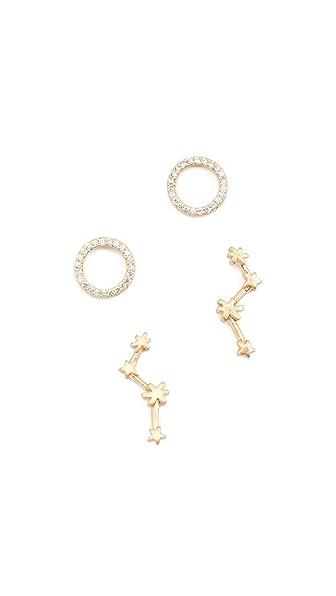 Madewell Constellations Stud Earrings In Vintage Gold