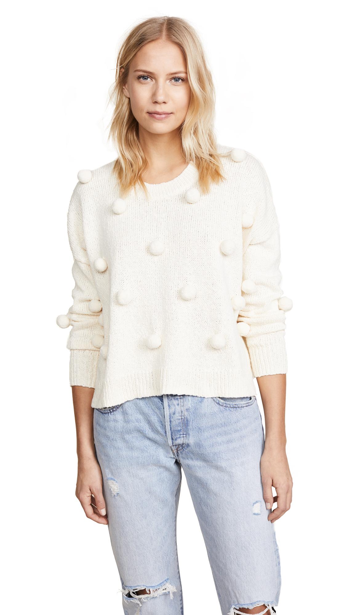 Madewell Pom Pom Pullover Shopbop