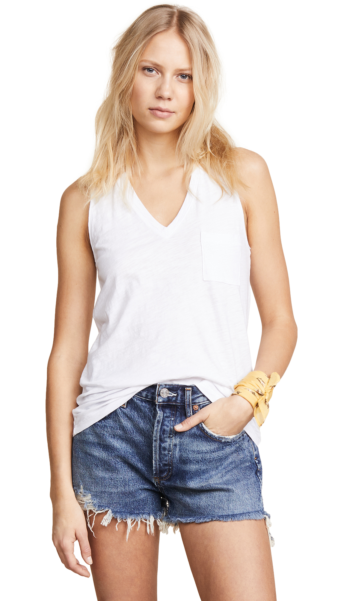 e673d8e95d4ee Madewell Whisper Cotton V Neck Pocket Tank