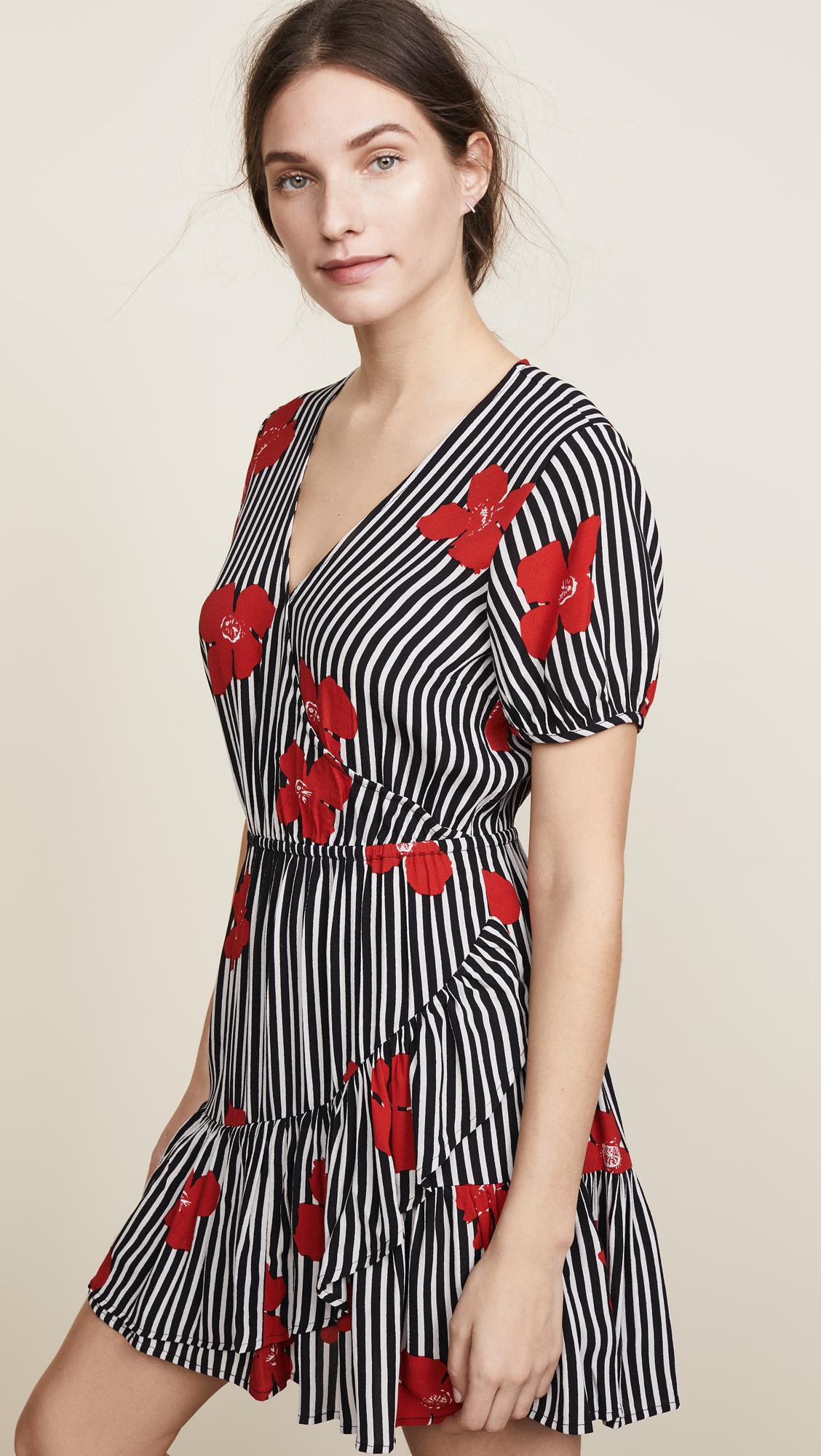 aa20f1ce10e Madewell Bianca Ruffle Wrap Dress