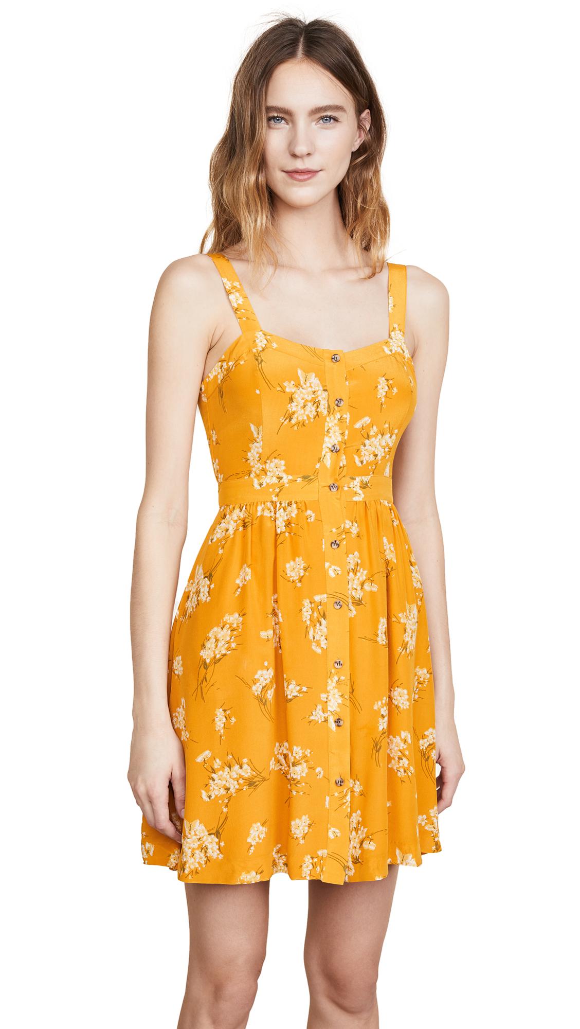 Madewell Silk Fleur Bow Back Dress