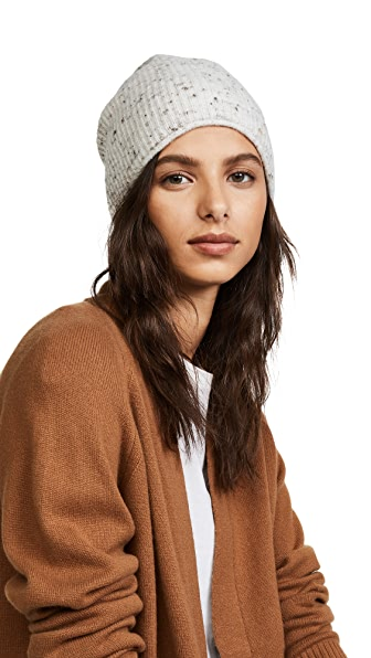 Madewell Donegal Flat Jersey Stitch Beanie In Donegal Fog