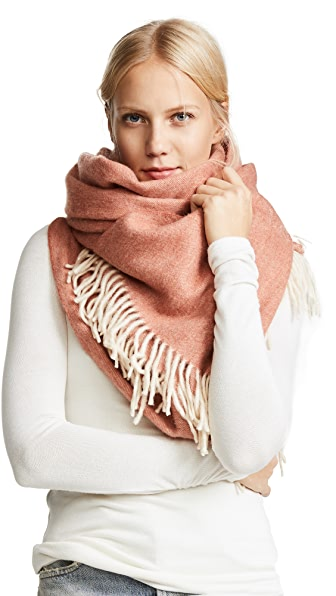 Madewell Solid Cape Scarf In Red