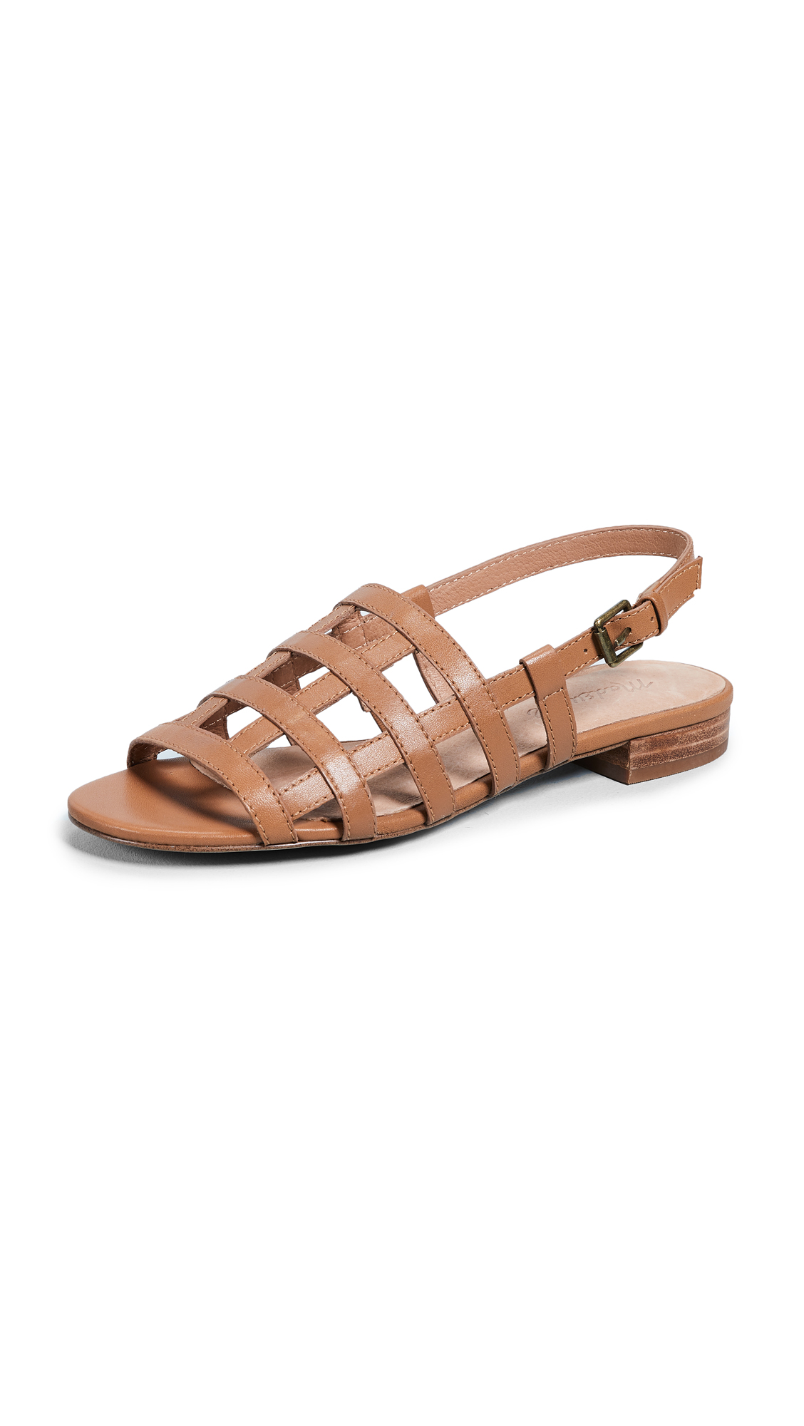 Madewell Holly Cage Sandals - Amber Brown