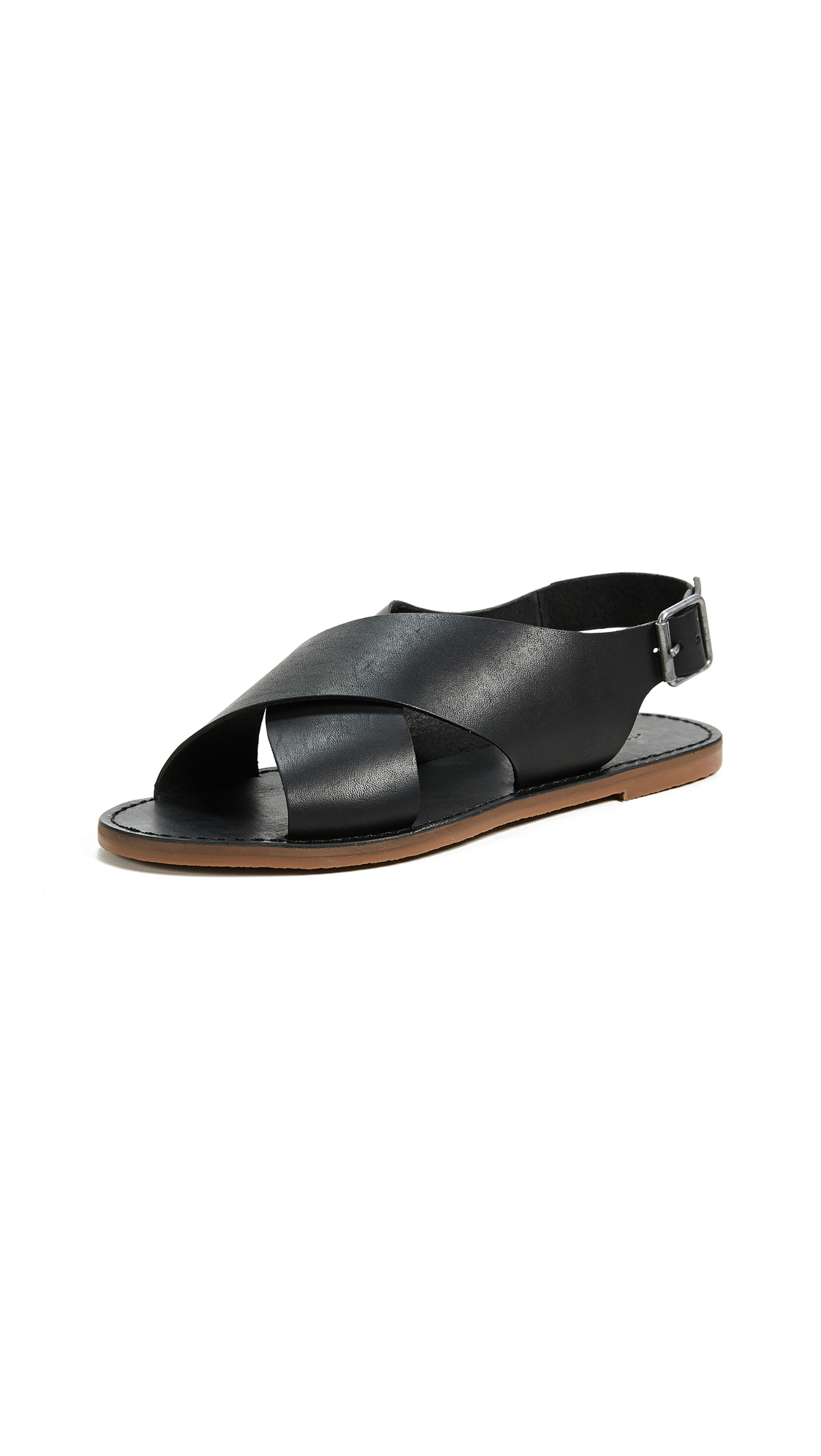 Madewell Reka Crisscross Outstock Sandals - True Black