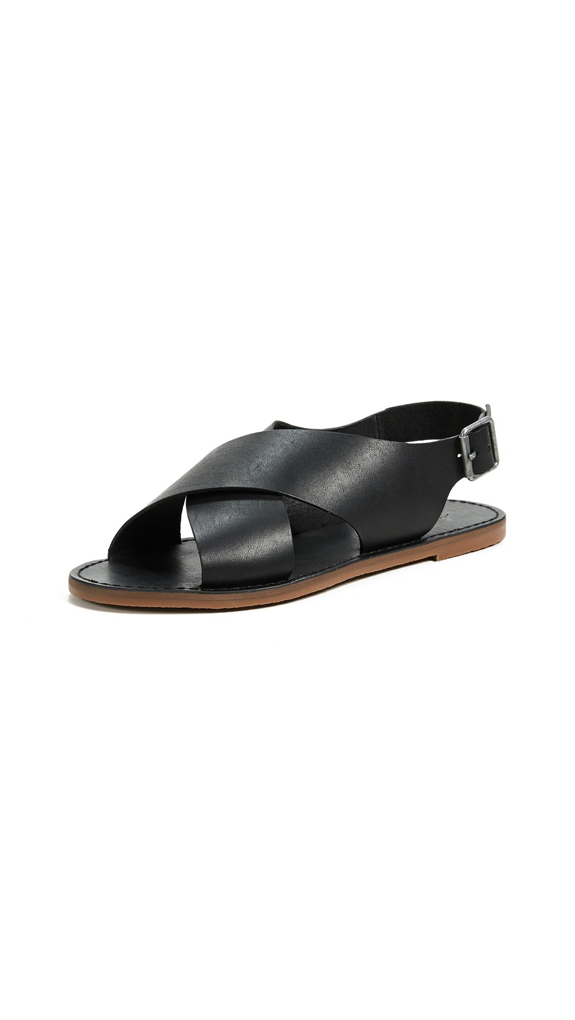 Madewell Reka Crisscross Outstock Sandals - True Black