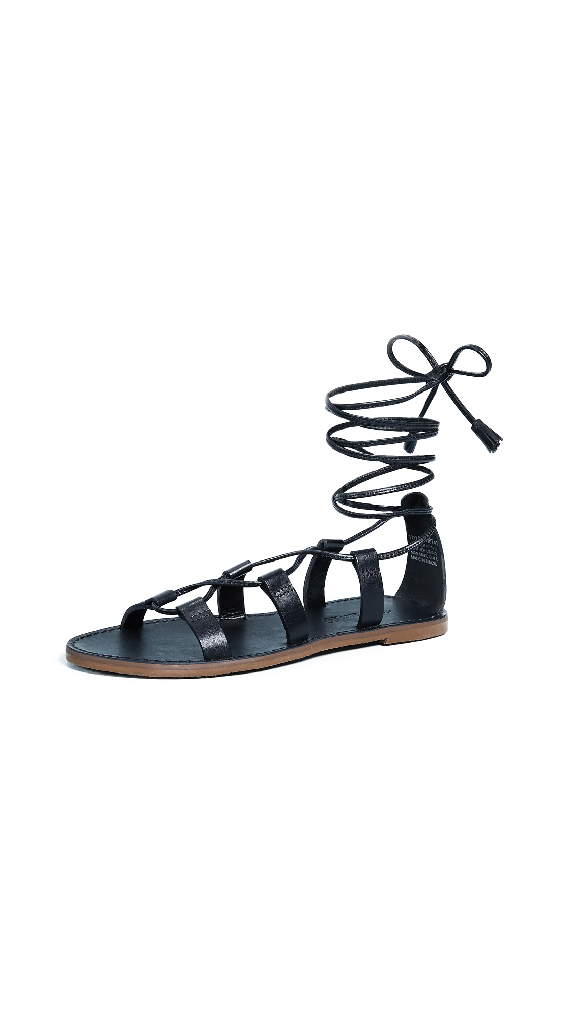 Madewell Outstock Lace Up Sandals - True Black