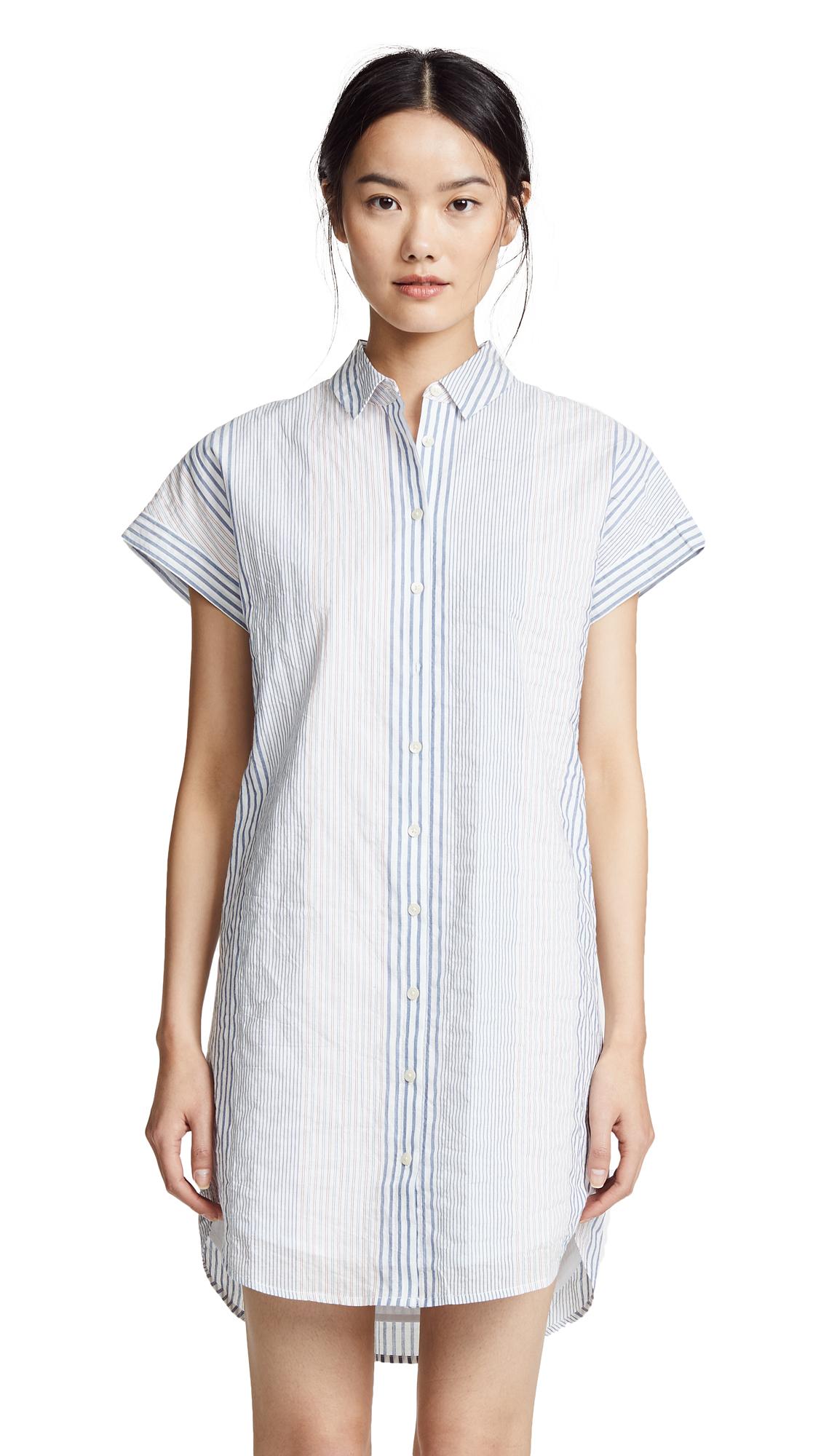 Madewell Multistripe Central Shirtdress