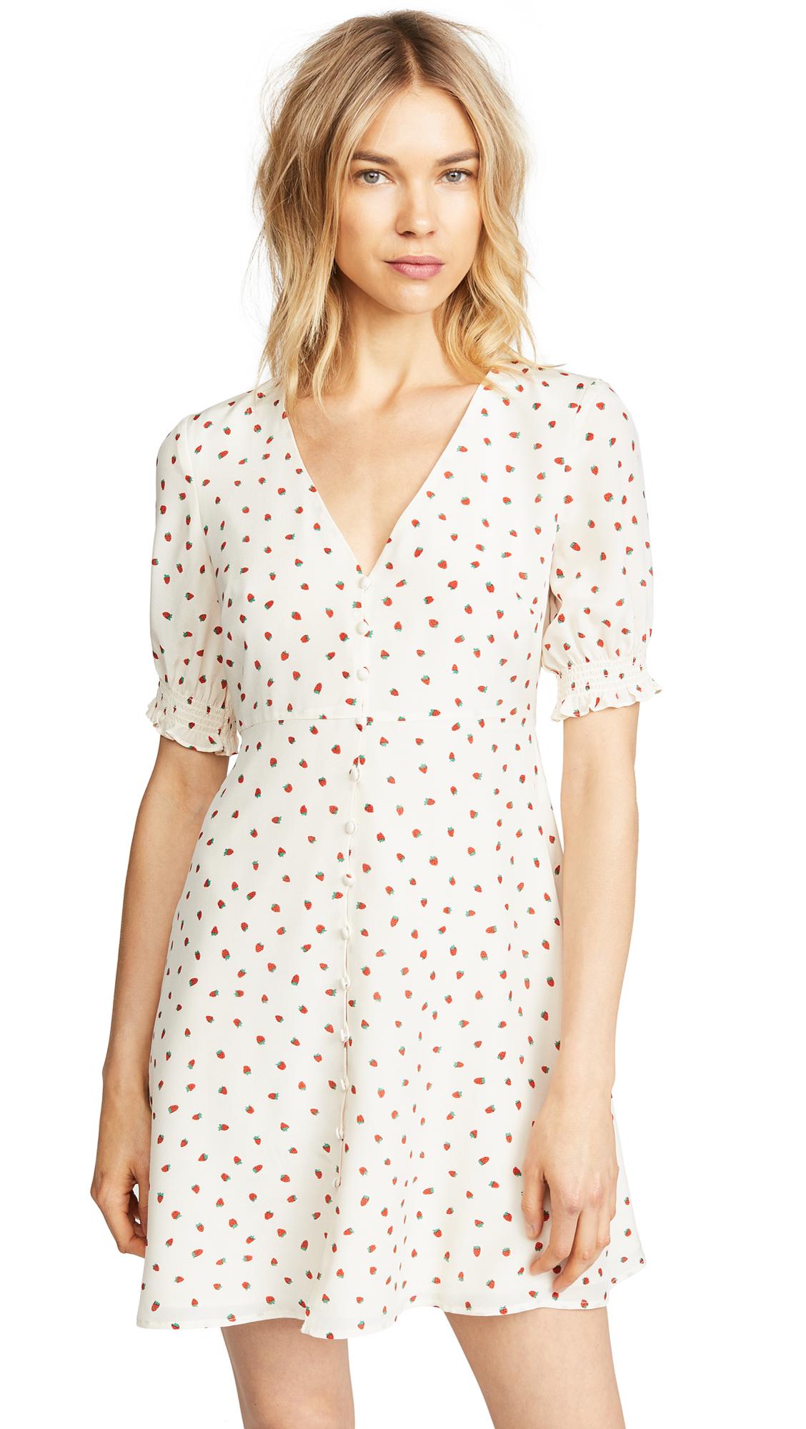 Madewell Stawberries Retro Dress Shopbop D Island Casual Wrinkle Vintage