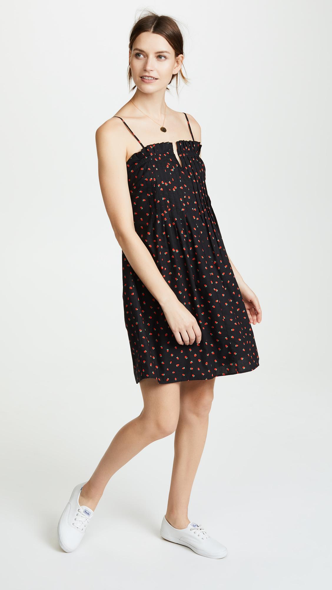 b3f0c14b9d Madewell Strawberries Pintuck Ruffle Cami Dress