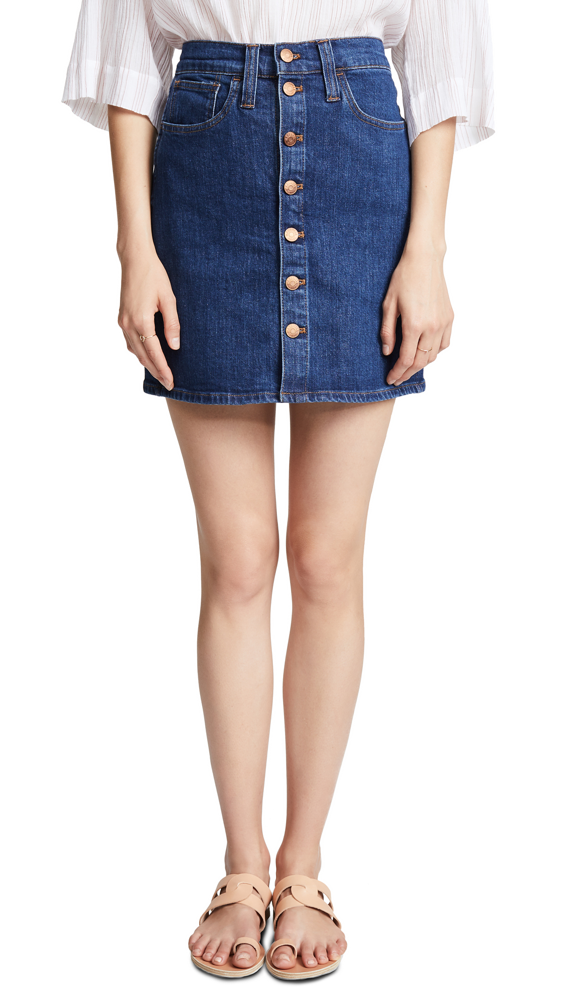 Madewell Arroyo Jean Skirt In Indigo