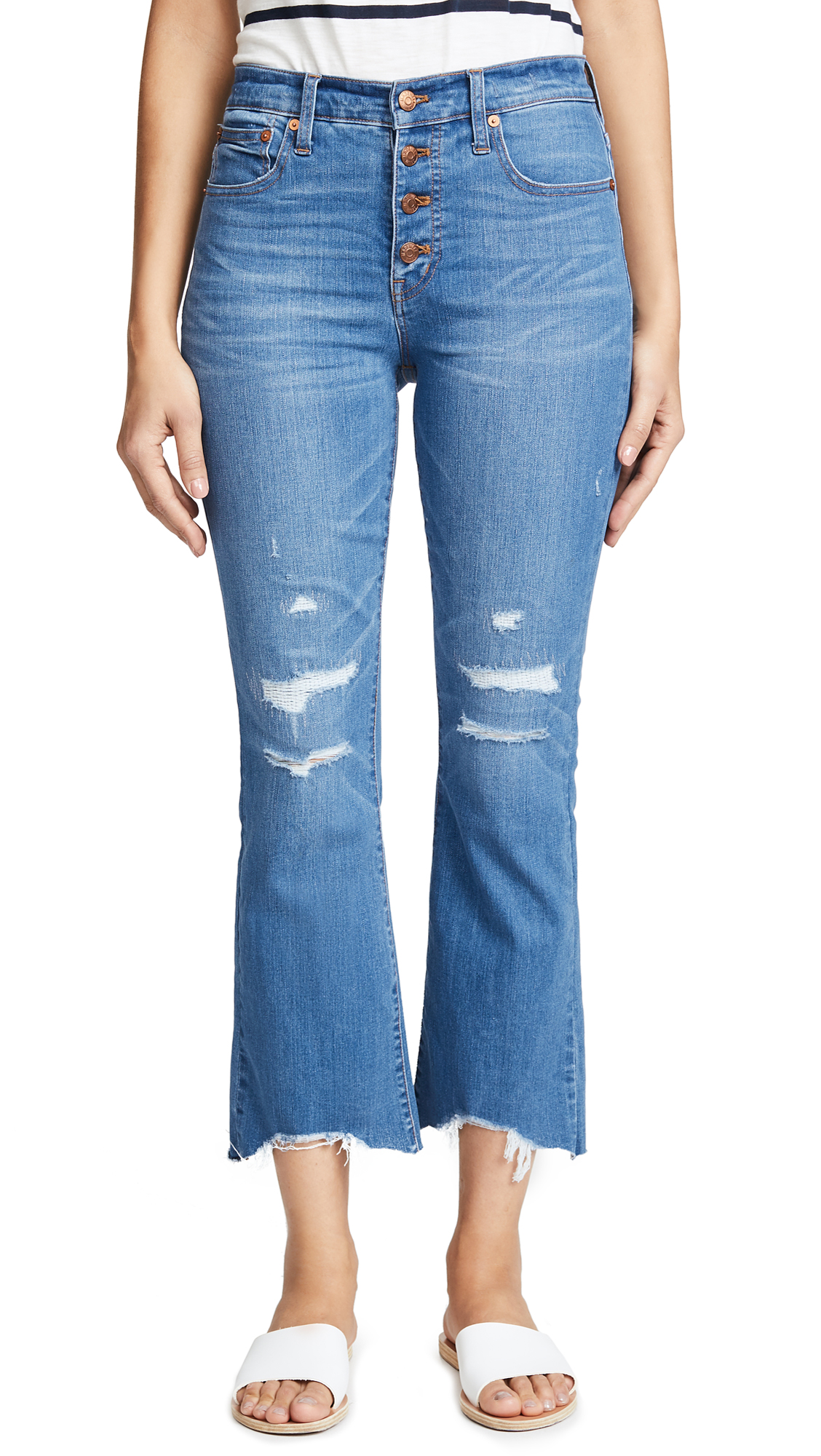 Madewell Button-Front Cali Demi-Boot Jeans In Bronson