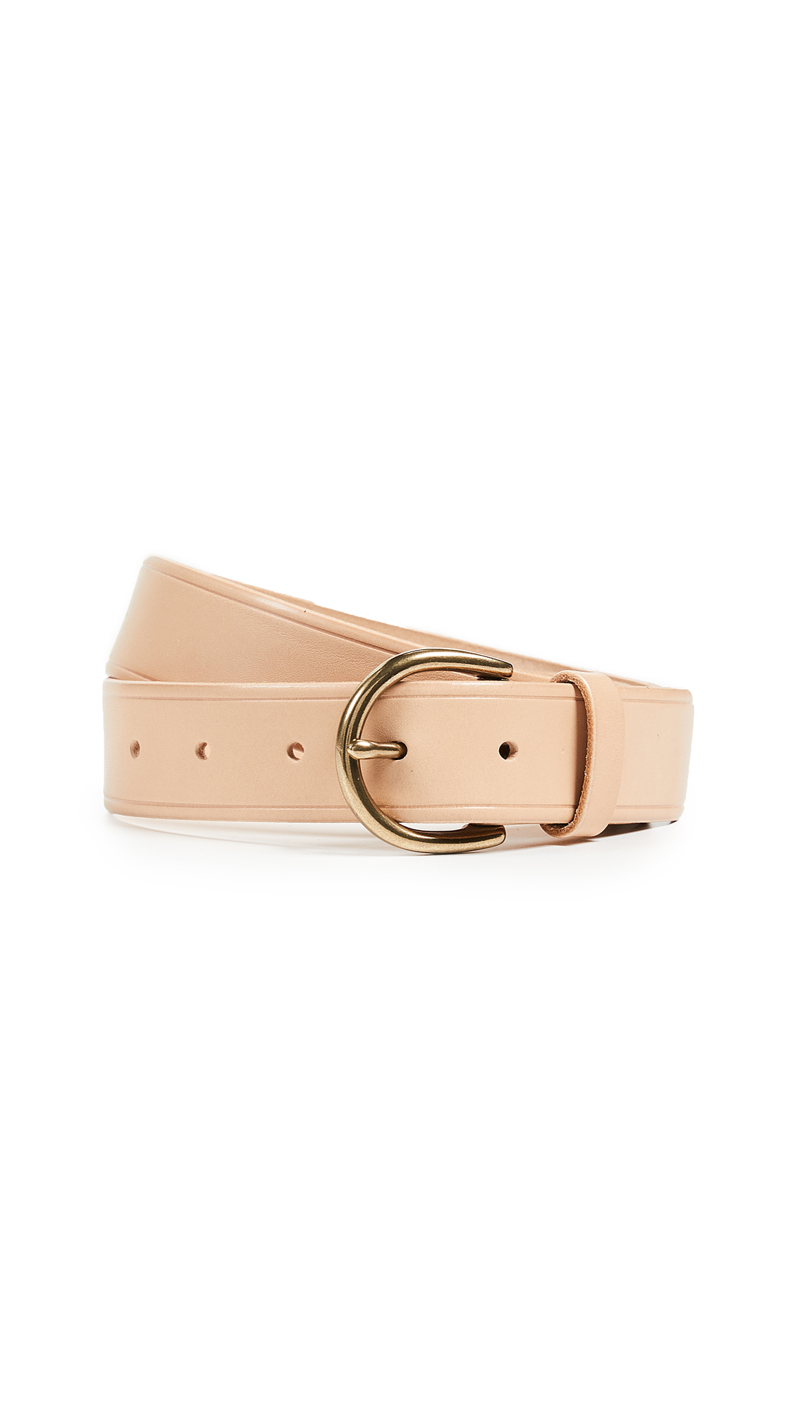 Madewell Medium Perfect Leather Belt - Linen