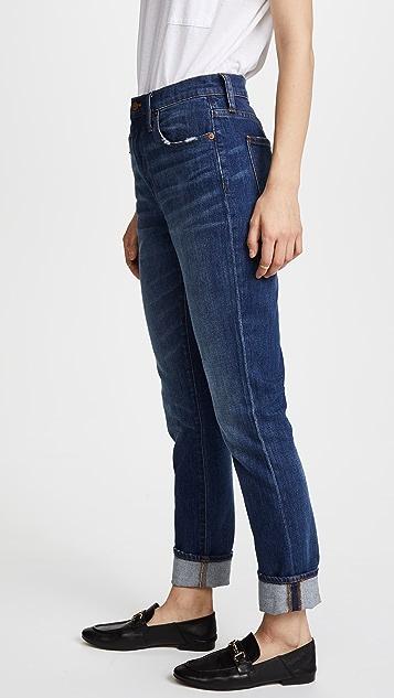 Madewell High Rise Slim Boy Jeans