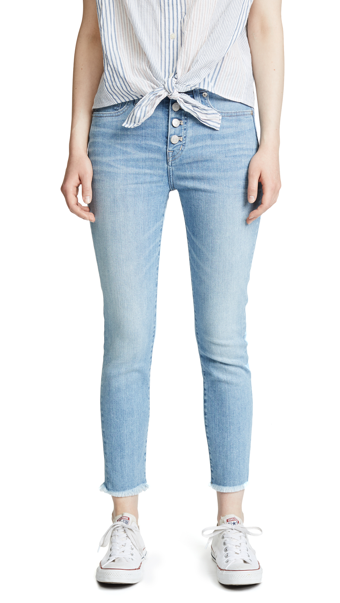 Madewell High Rise Skinny Crop Jeans In Light Indigo