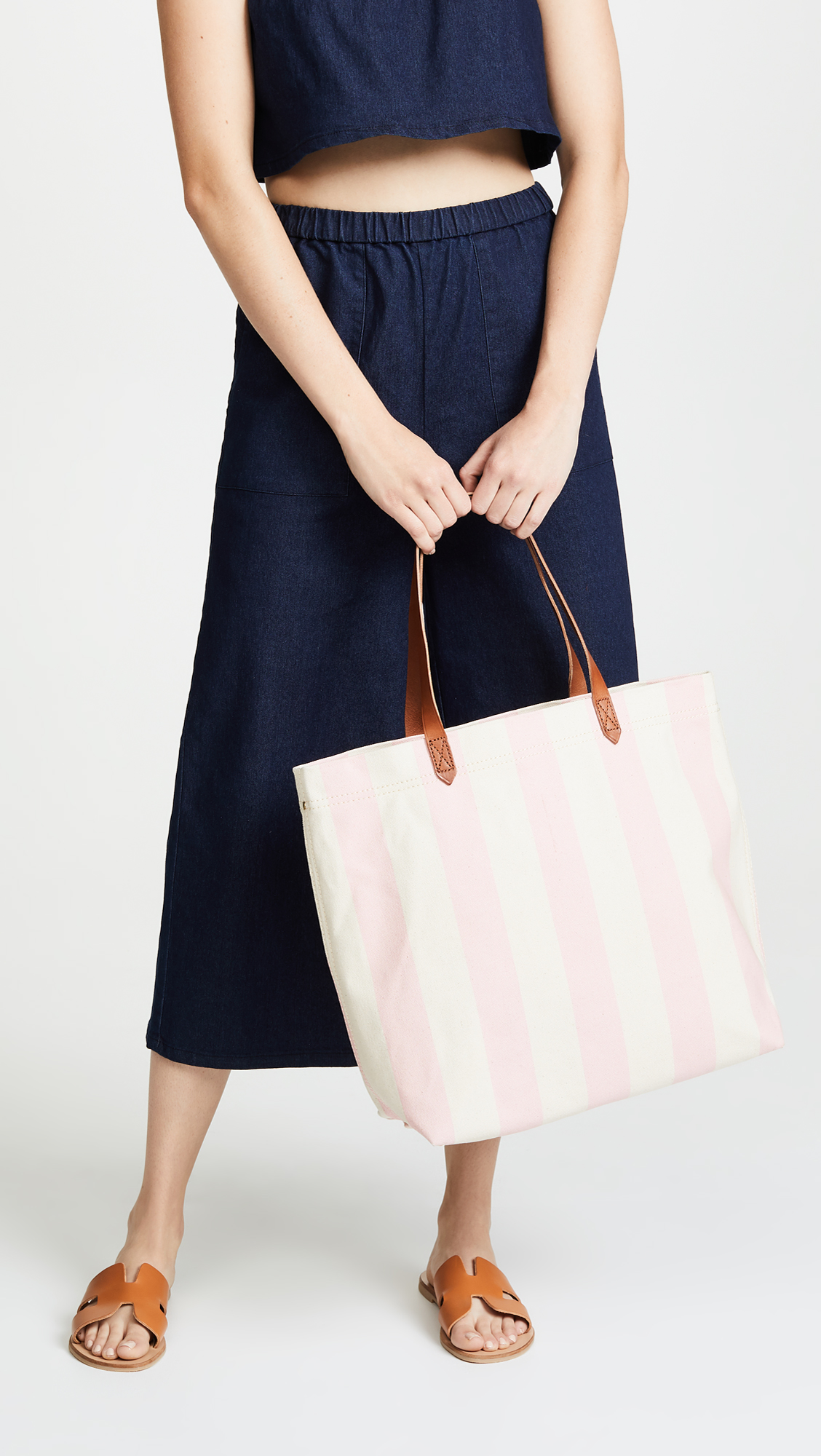 509ed3449967b Madewell Striped Canvas Transport Tote
