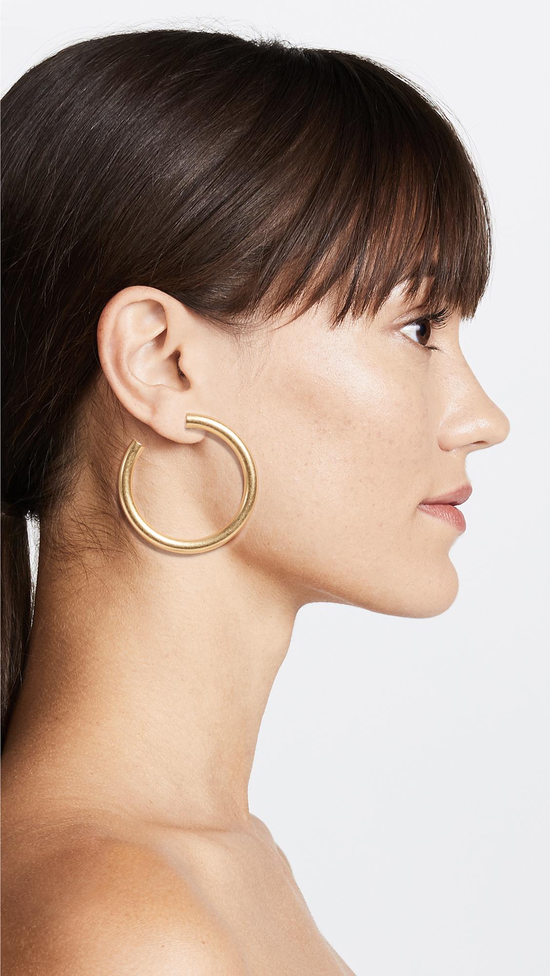 6921b65a66fa45 Madewell Chunky Oversized Hoop Earrings | SHOPBOP