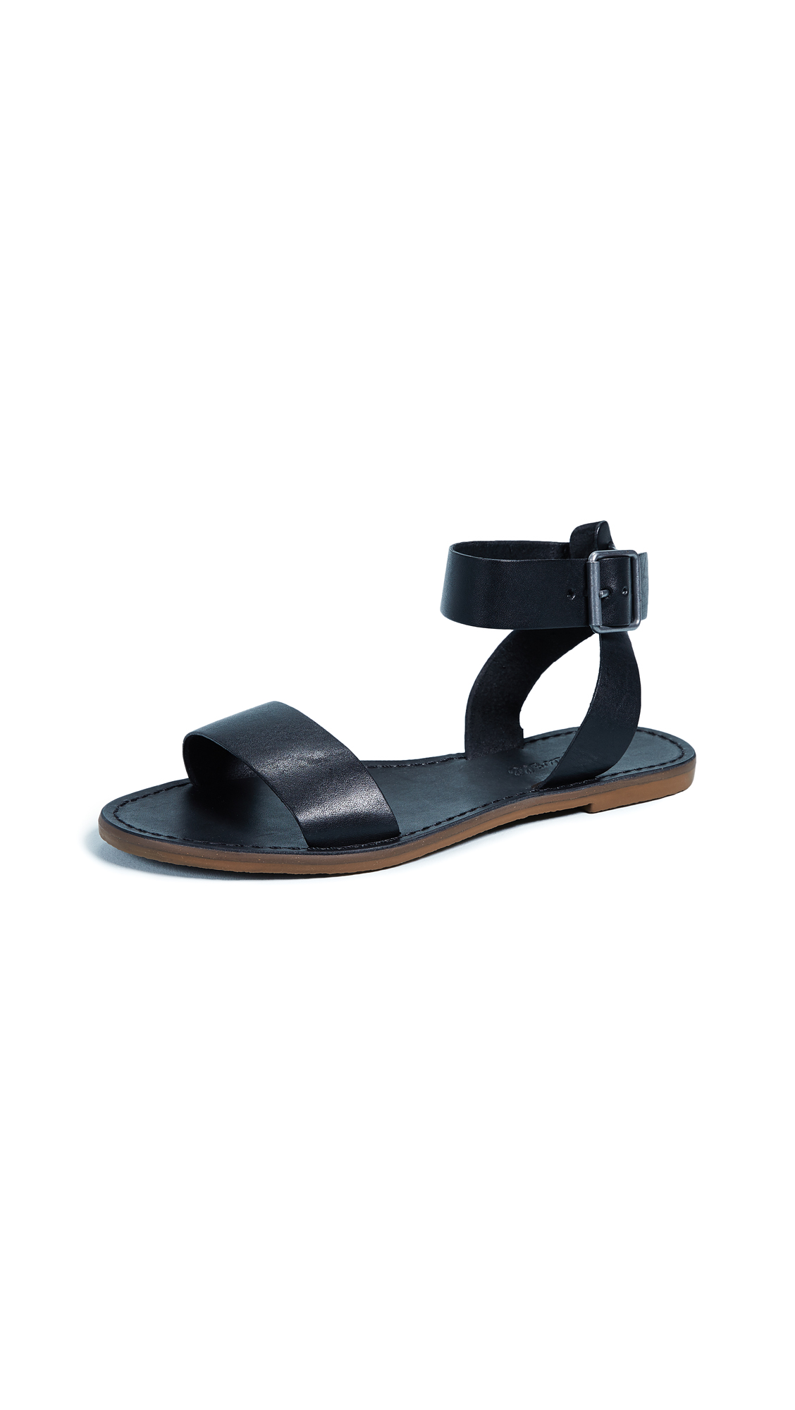 Madewell The Boardwalk Ankle-Strap Sandals - True Black