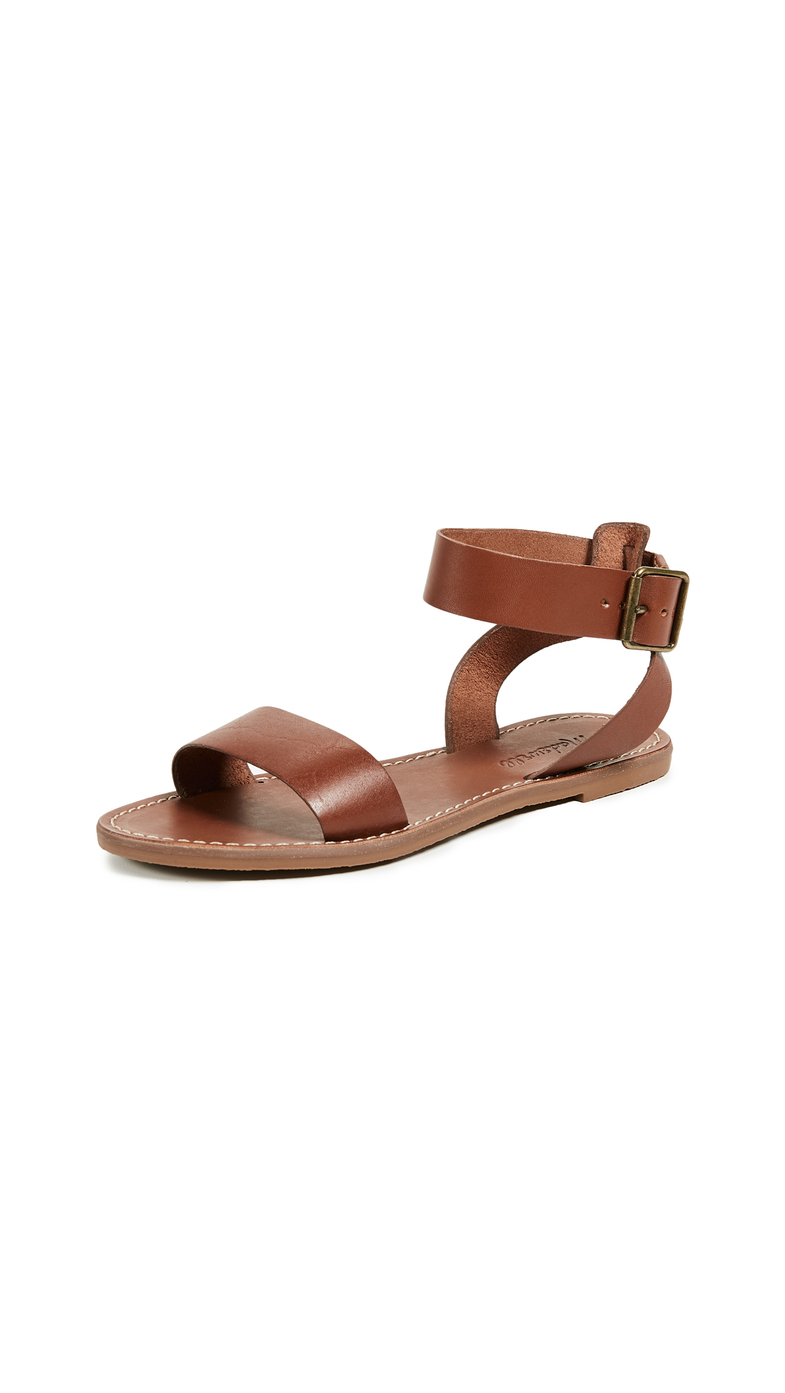 Madewell The Boardwalk Ankle-Strap Sandals - English Saddle