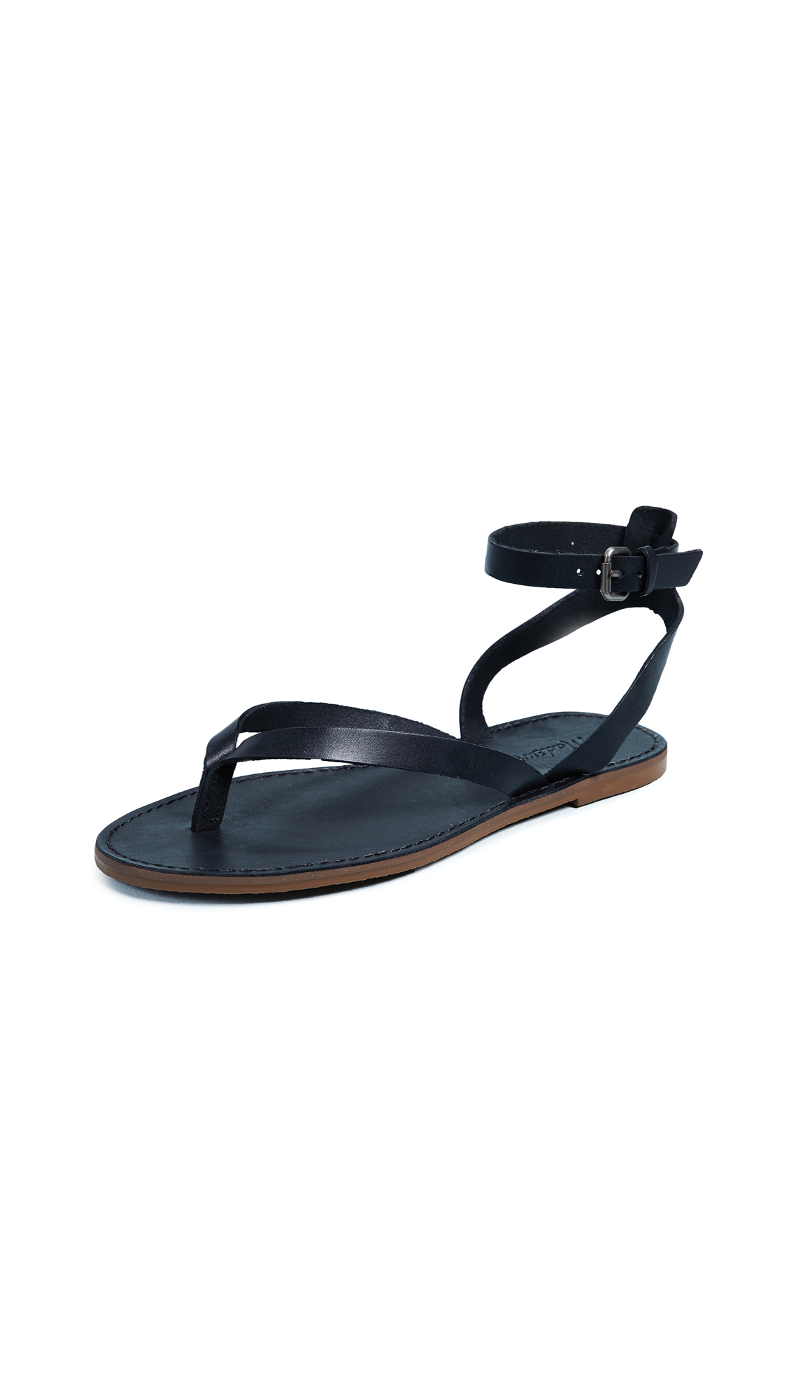 Madewell The Boardwalk Thong Sandals - True Black