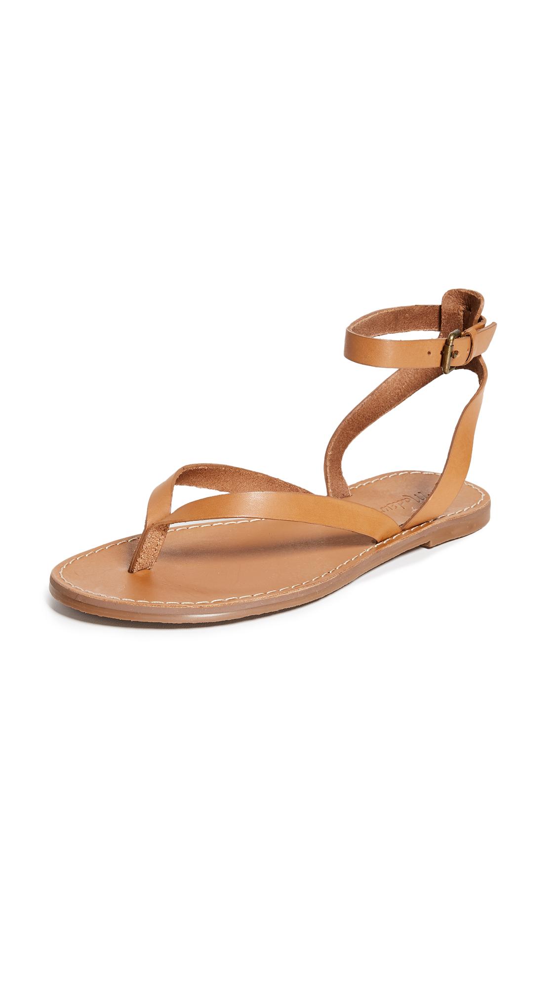 Madewell The Boardwalk Thong Sandals - Desert Camel