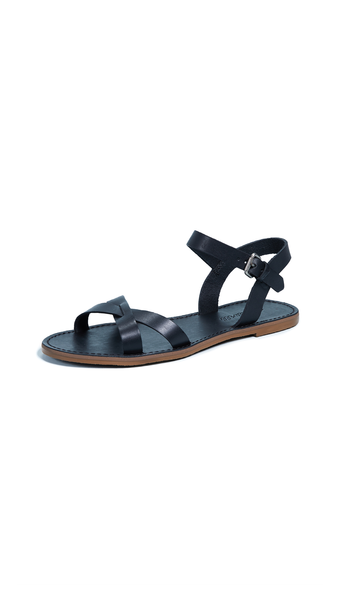 Madewell The Boardwalk Crisscross Sandals - True Black