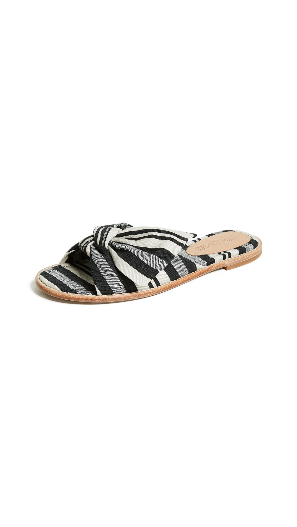 Madewell The Naida Half Bow Sandals - Stone
