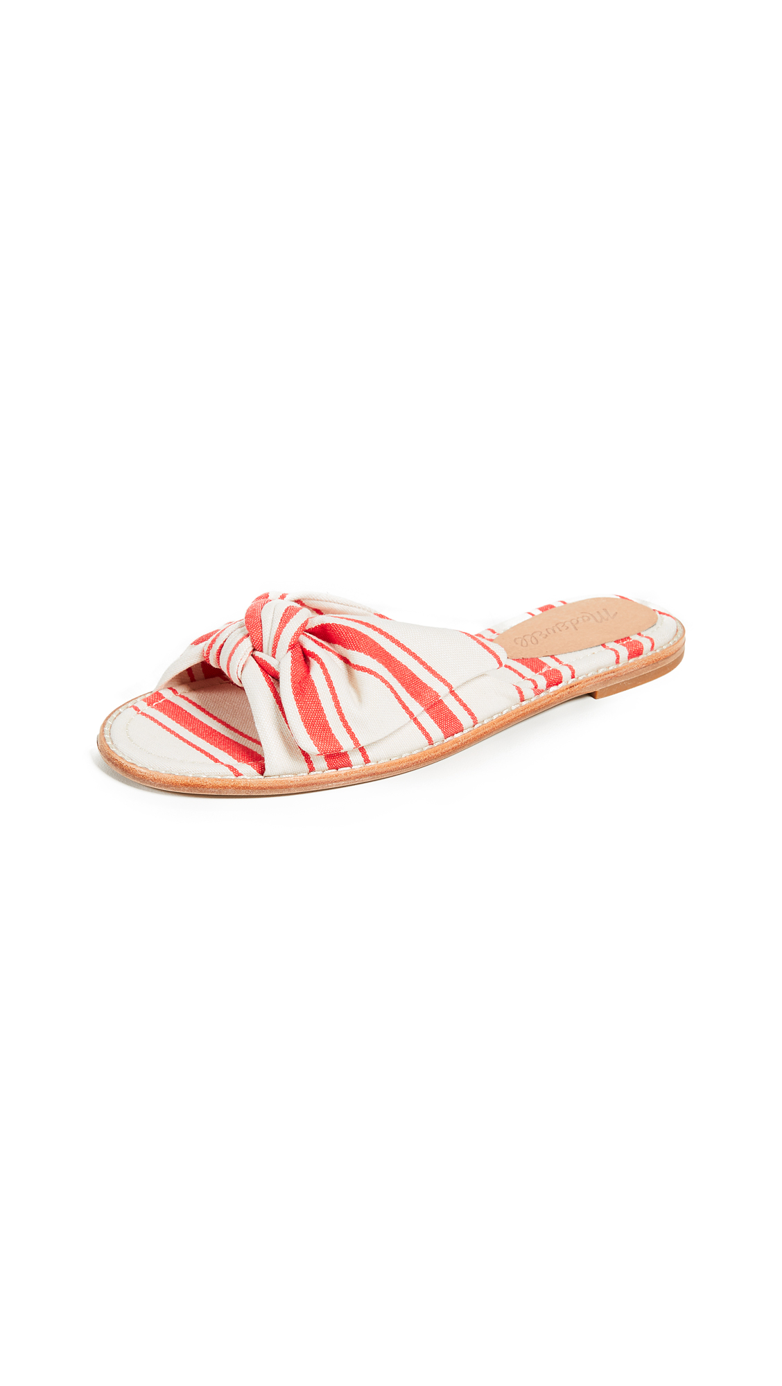 Madewell The Naida Half Bow Sandals - Muslin Creamsicle Stripe