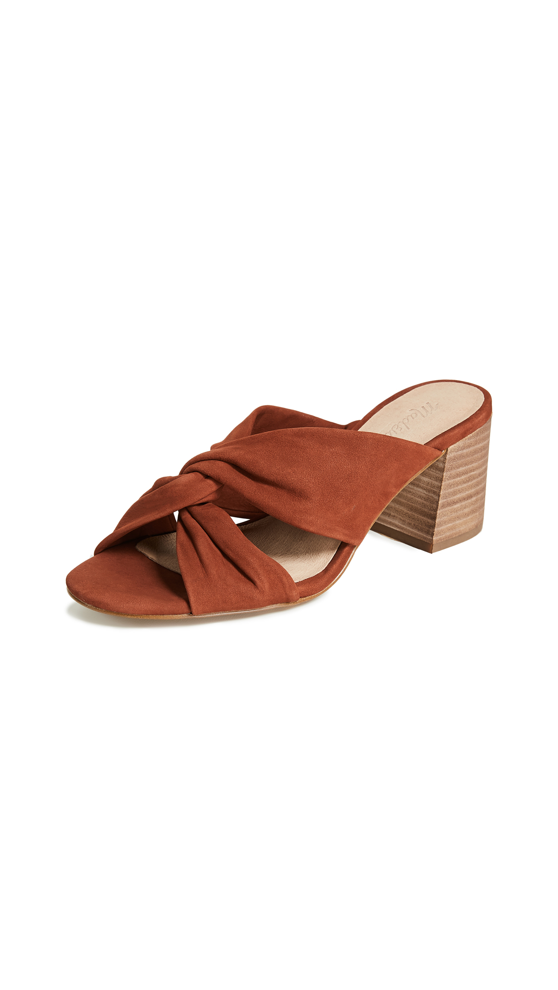 Madewell The Sari Crisscross Sandals - Warm Nutmeg