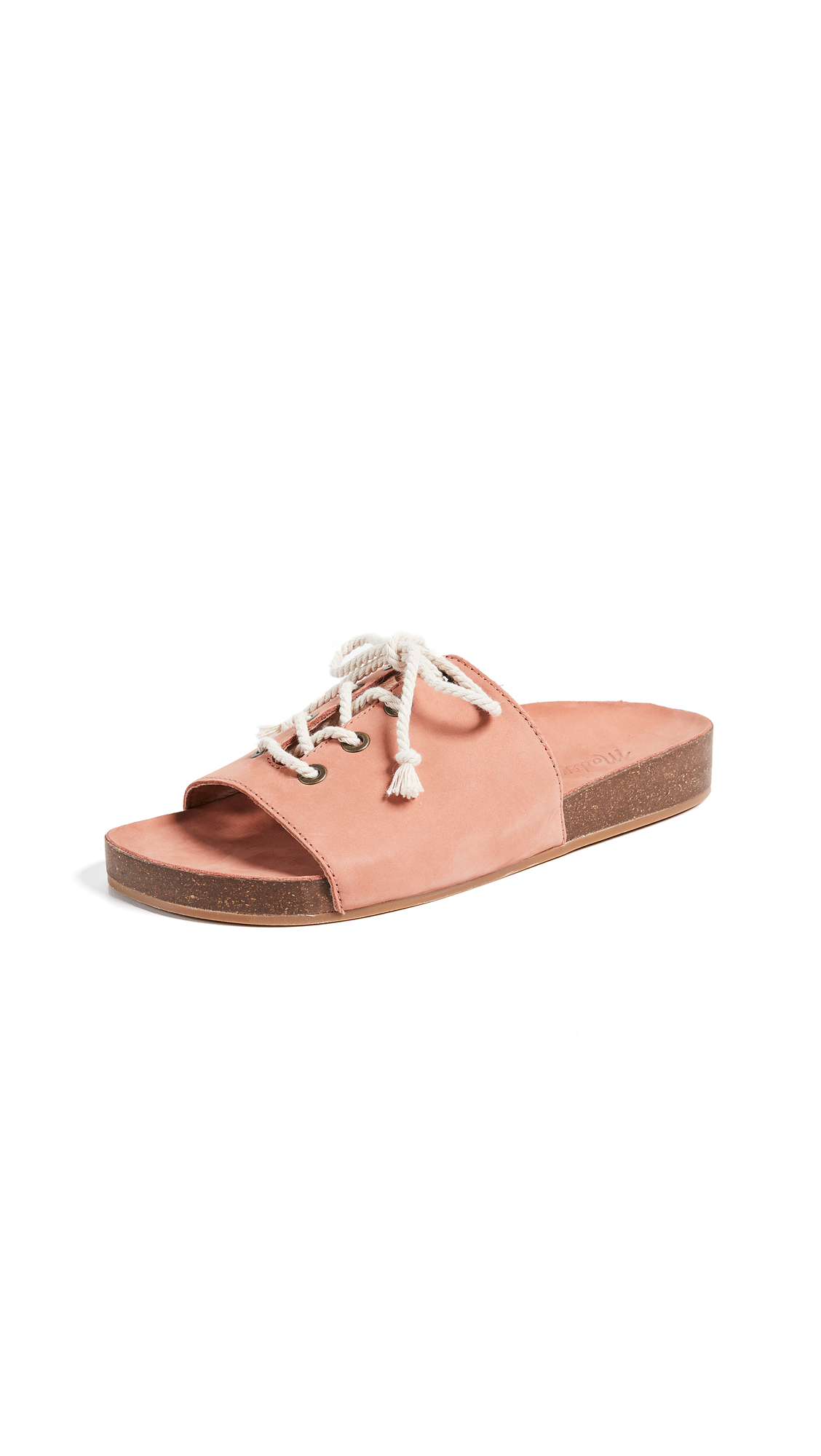 Madewell The Aileen Slide Sandals - Spiced Rose