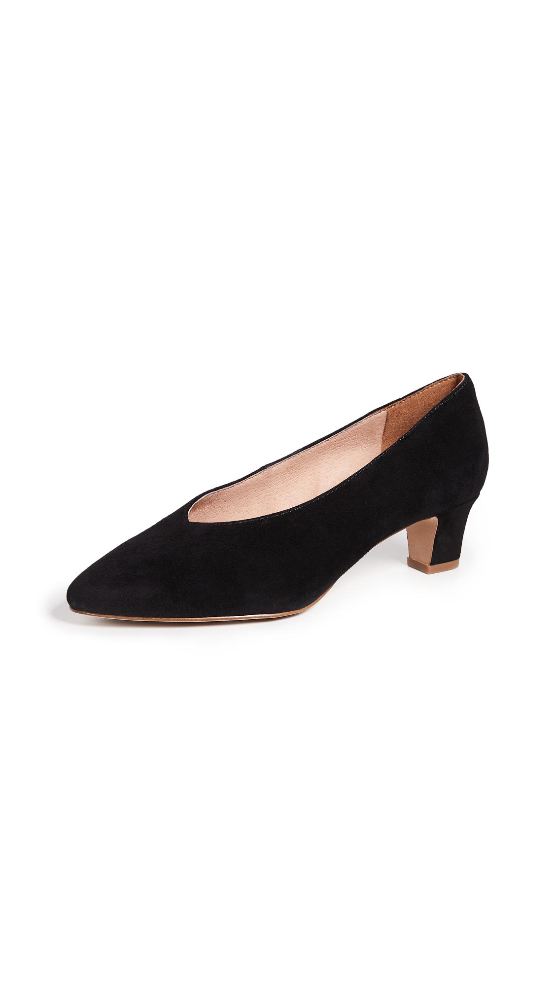 Madewell Francia Kitten Heel Pumps - True Black