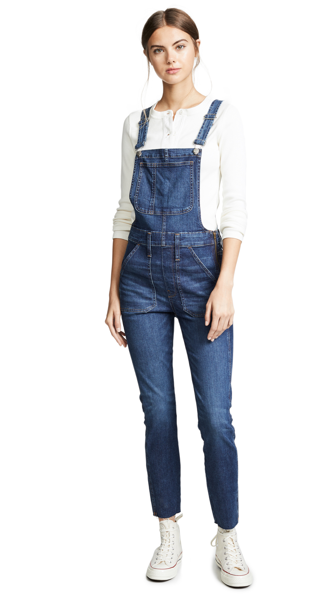 Madewell Indigo Skinny Overalls In Elmdale